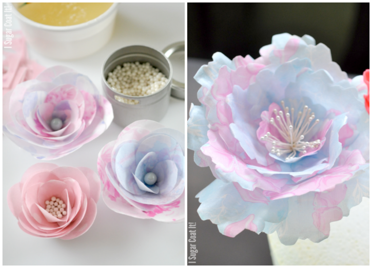 paper wafer flowers