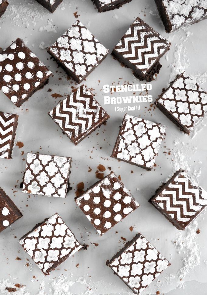 Stenciled Brownies Tutorial Tuesday I Sugar Coat It
